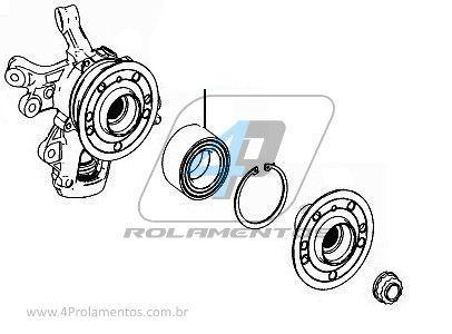 Rolamento de Roda Traseira Mercedes Benz GL350 2012 até 2019