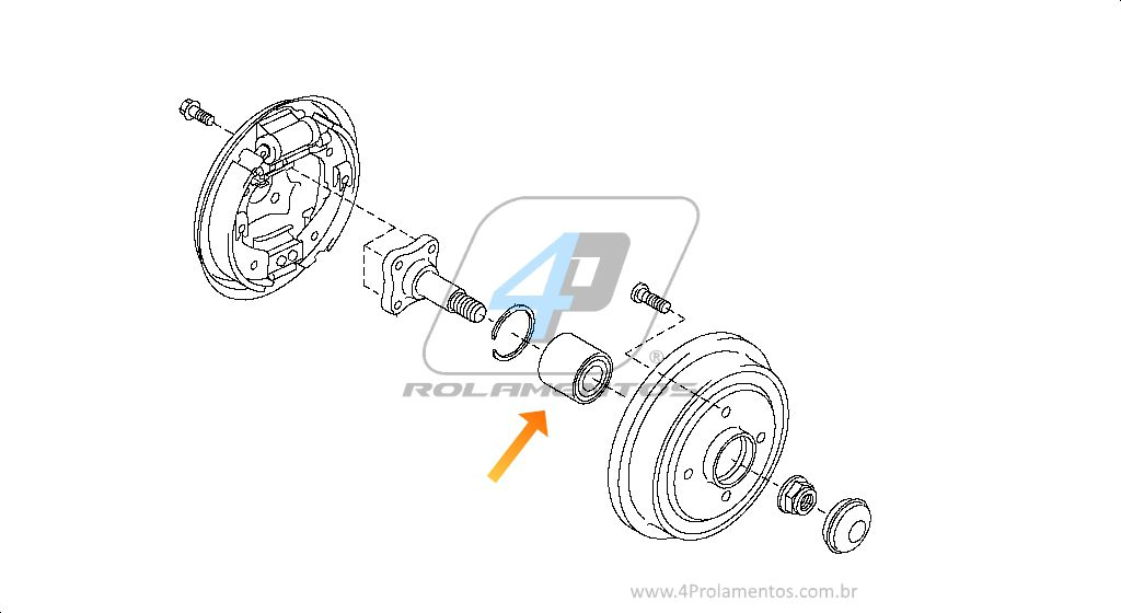 Rolamento de Roda Traseira Nissan March 2011 até 2019