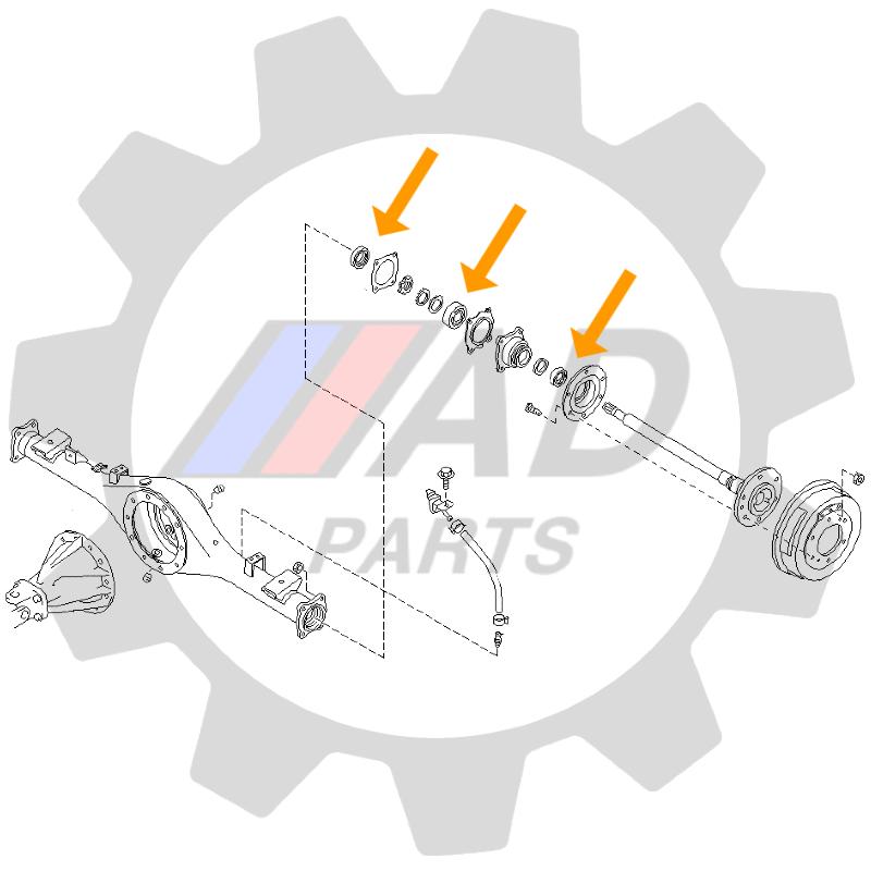 Rolamento de Roda Traseira NISSAN Pathfinder 1996 até 2004