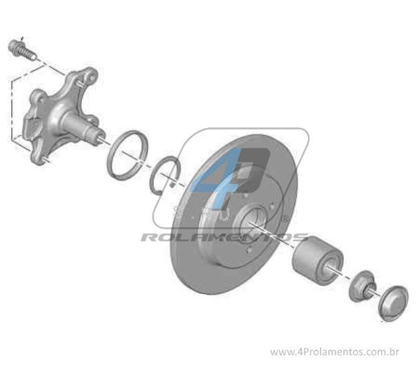 Rolamento de Roda Traseira PEUGEOT 308 2012 até 2018