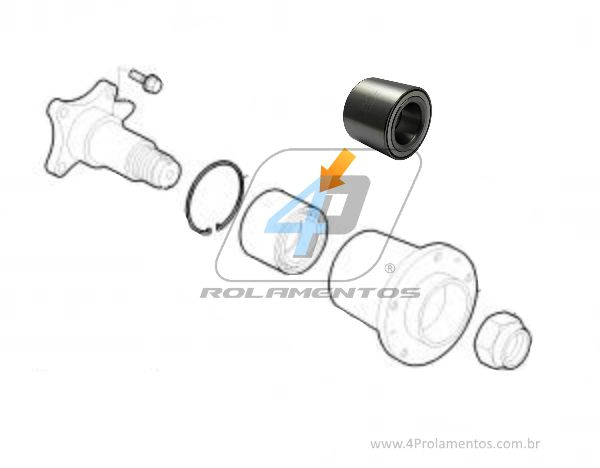 Rolamento de Roda Traseira PEUGEOT Boxer 2002 até 2016