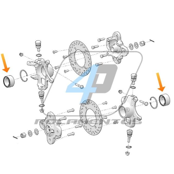 Rolamento de Roda traseira Polaris Sportsman 2002 até 2015
