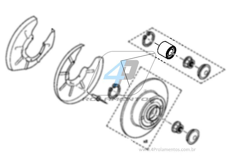 Rolamento de Roda Traseira RENAULT Fluence 2011-2016
