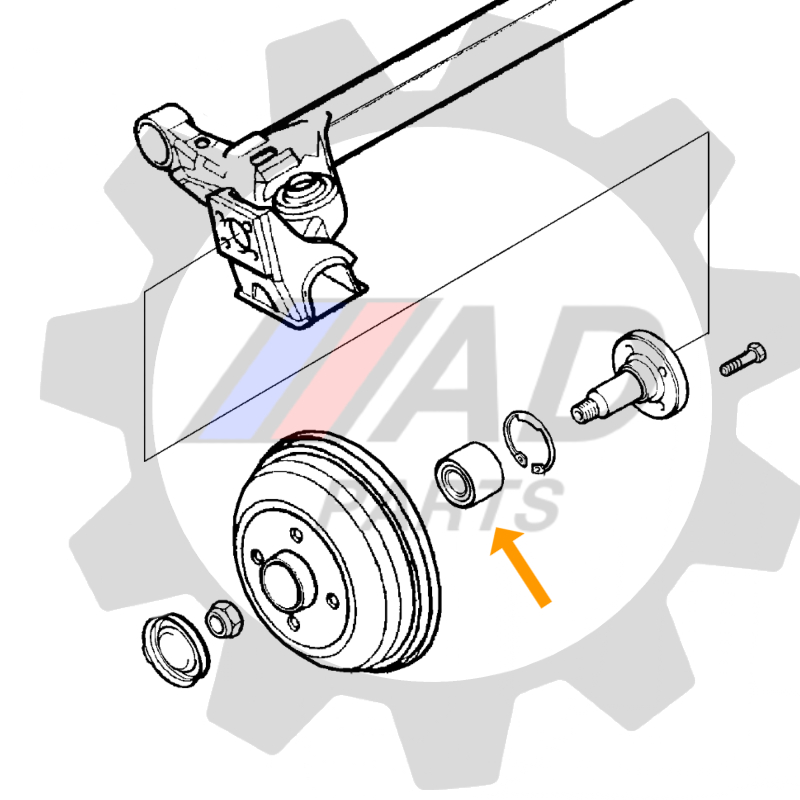 Rolamento de Roda Traseira RENAULT Symbol 2008 até 2013