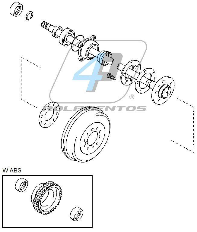 Rolamento de roda Traseira TOYOTA Hilux Pitbull 2009 até 2015