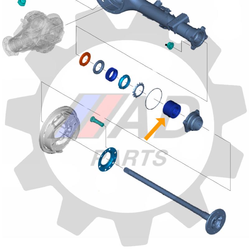 Rolamento de Roda Traseira VW Amarok 2010 até 2019