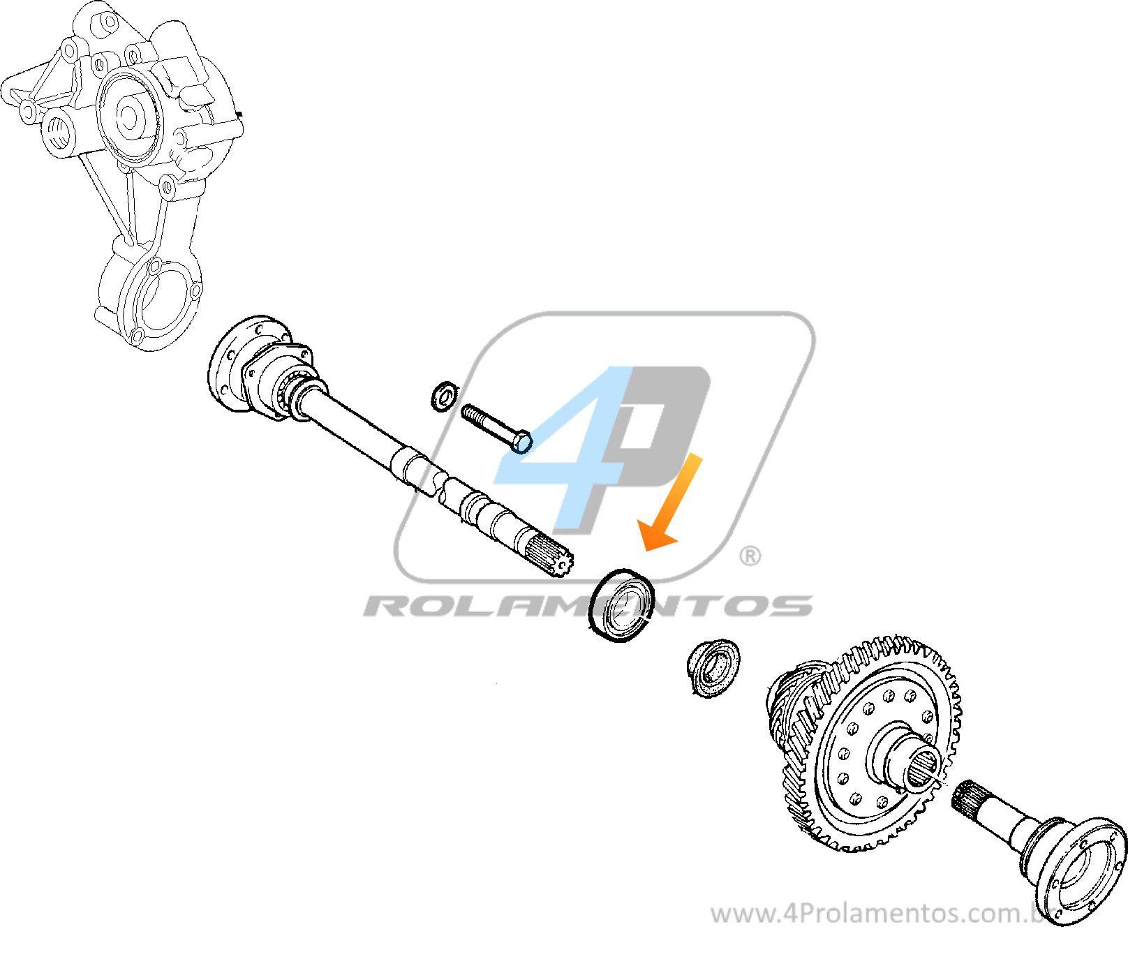 Rolamento de semi-eixo Alfa Romeo 164 1987 até 1998, intermediario