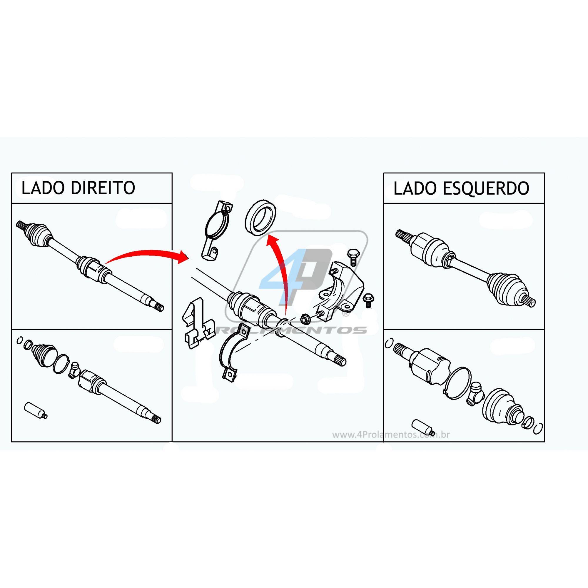 Rolamento de semi eixo FORD New Fiesta 2014-2019