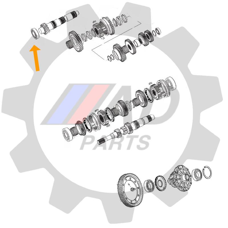 Rolamento do Cambio LIFAN X60 de 2013 até 2019