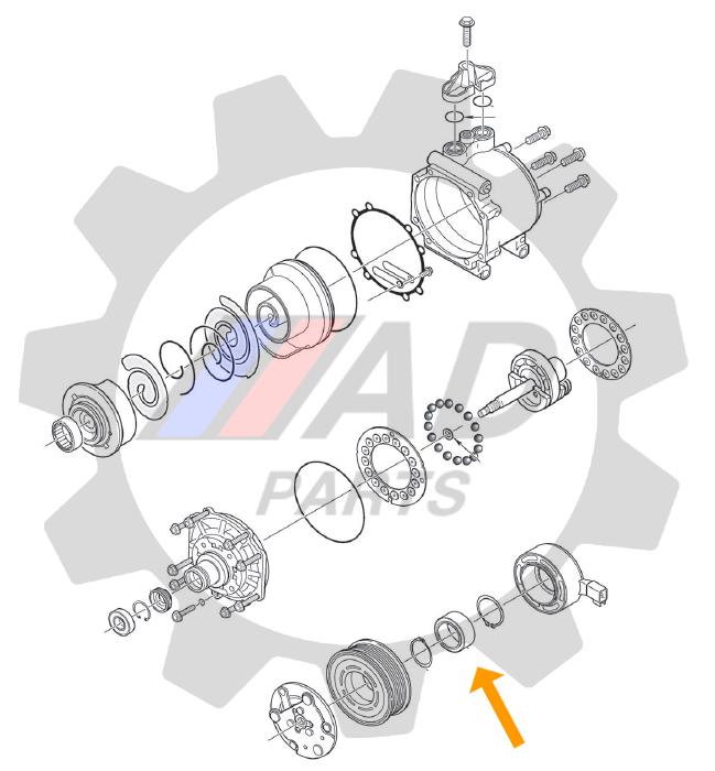 Rolamento Polia Ar Condicionado JAC J3 de 2010 até 2015, 52mm