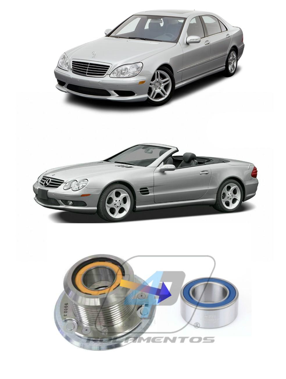 Rolamento do Supercharger Mercedes Benz S/SL 55 AMG de 2003 até 2006