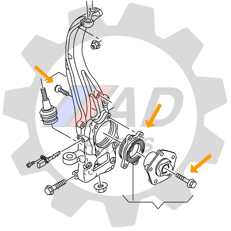 Rolamento Roda Dianteira ALFA ROMEO 156 de 1997 até 2005, ABS