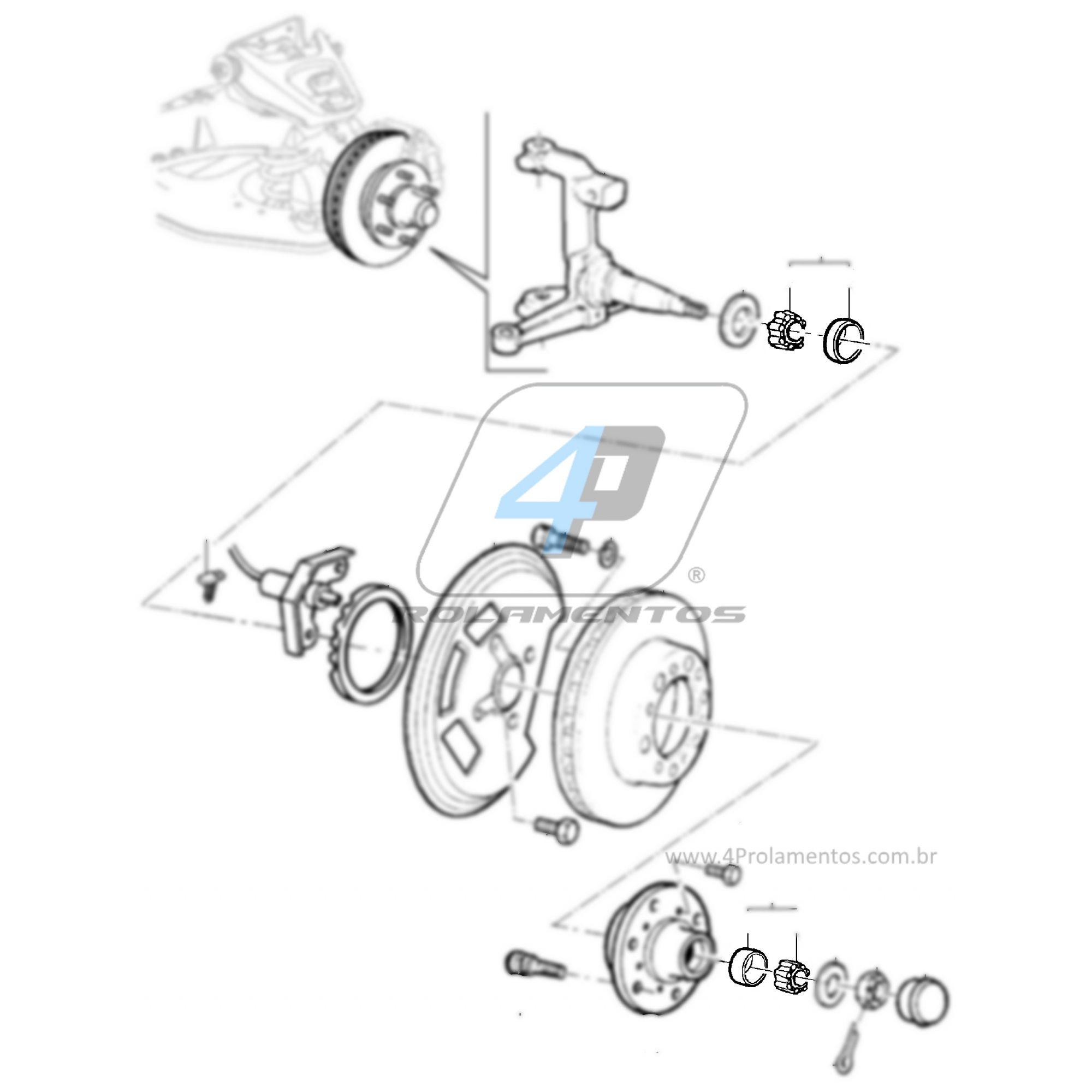 Rolamento Roda Dianteira Chevrolet Grand Blazer 1997-2002