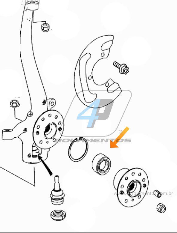 Rolamento Roda Dianteira e Traseira MERCEDES BENZ R500 2006 até 2013