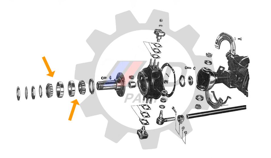 Rolamento Roda Dianteira Ford F-75 4x4