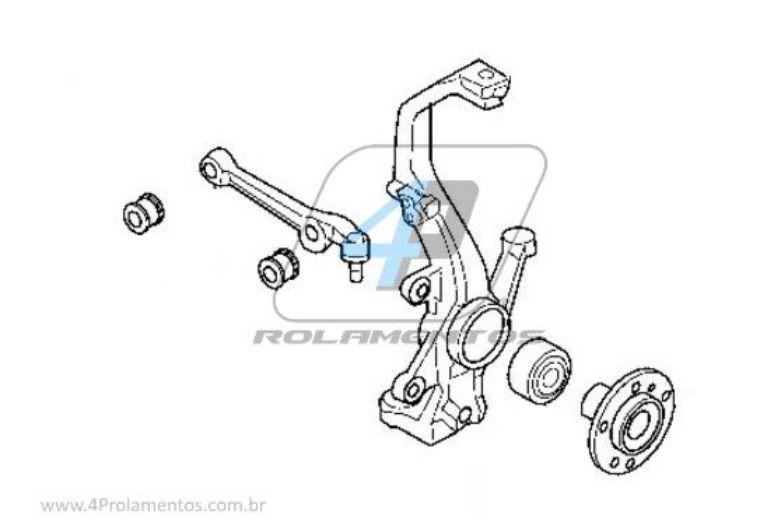Rolamento Roda Dianteira FORD Fusion 2006 até 2013