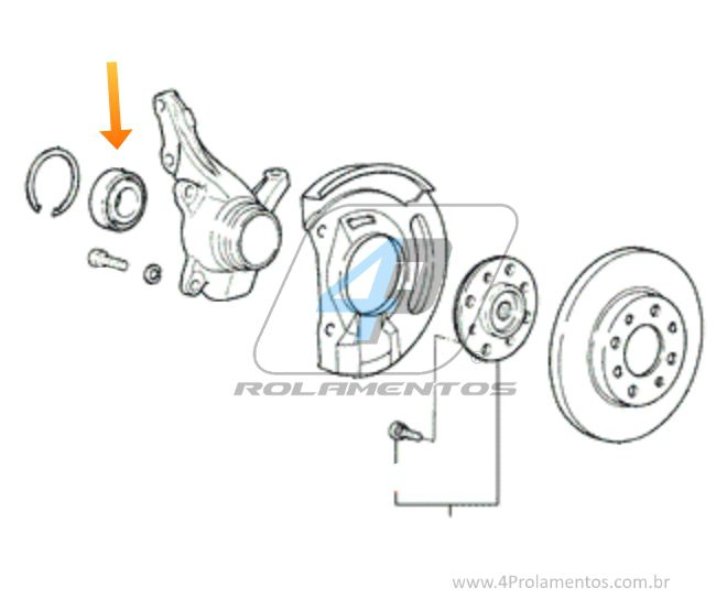 Rolamento Roda Dianteira HYUNDAI Sonata 1991 até 1998