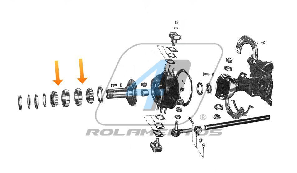 Rolamento Roda Dianteira JEEP CJ 4x4
