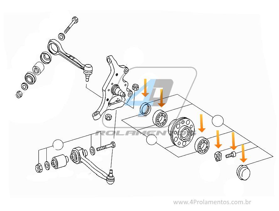 Rolamento Roda Dianteira Mercedes Benz Classe-E de 2010 até 2016