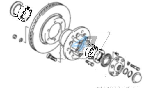 Rolamento Roda Dianteira MITSUBISHI L200 1995 até 2012, 4WD