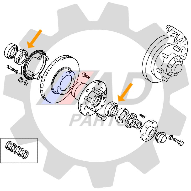 Rolamento Roda Dianteira MITSUBISHI L200 2003 até 2012, 4WD