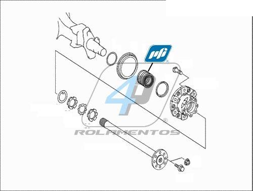 Rolamento Roda Mercedes Benz Atego II 2010 até 2016