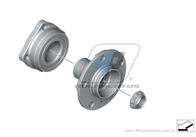 Rolamento Roda Traseira BMW X4 de 2014 até 2019