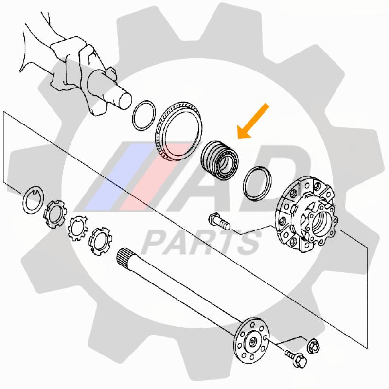 Rolamento Roda Traseira Mercedes Benz Accelo 2003-