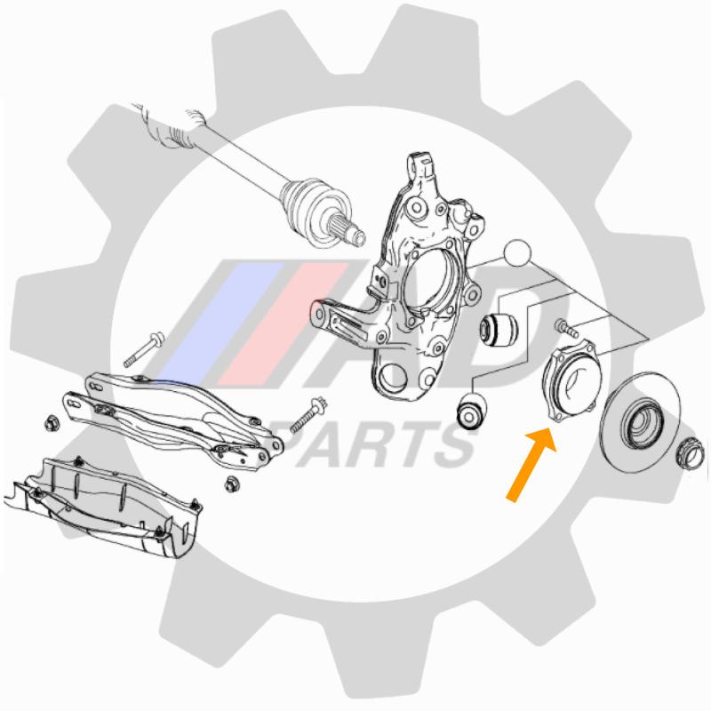 Rolamento roda traseira Mercedes Benz C180 2015 á 2021