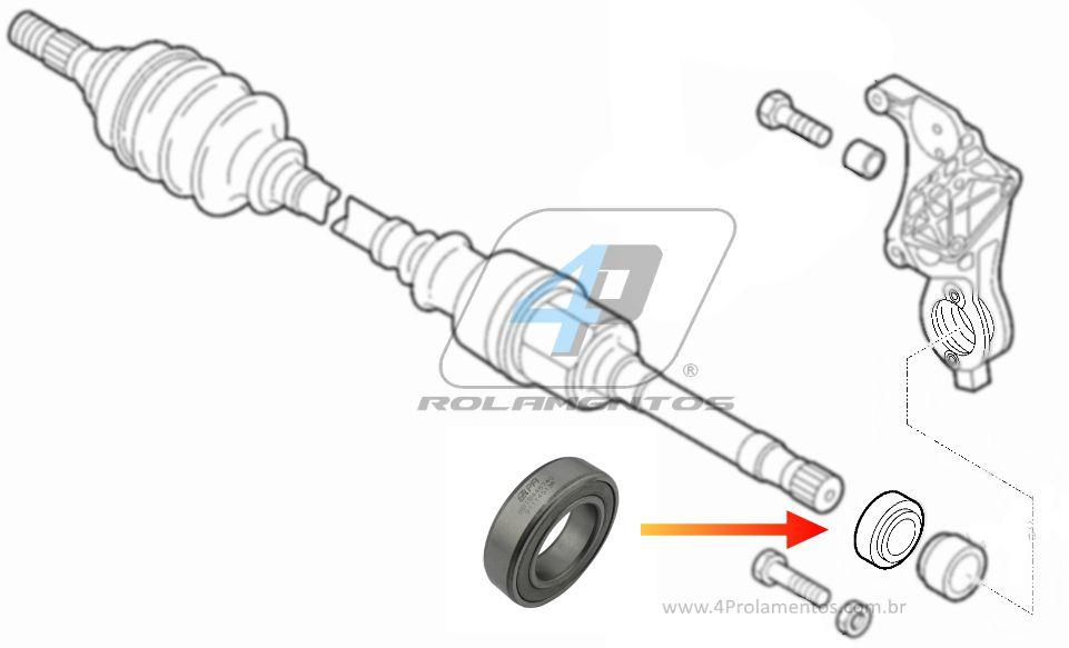 Rolamento Semi Eixo FIAT Ducato 1983 até 2016