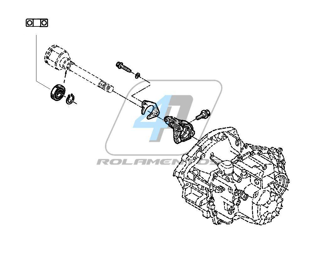Rolamento Semi Eixo Renault Master de 2013 até 2020
