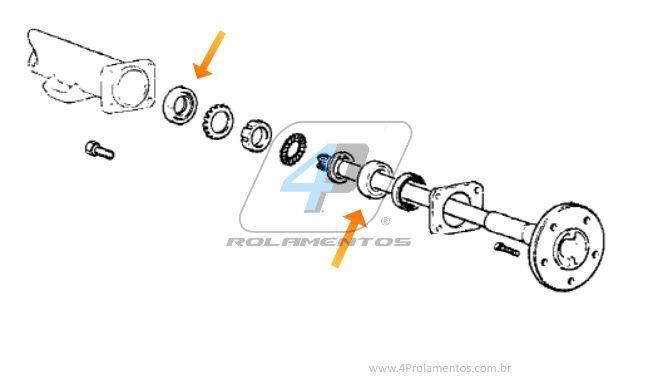 Rolamento Semi Eixo Traseiro Hyundai H100 1993-2004