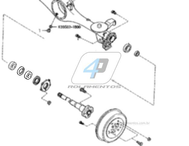Rolamento Semi Eixo Traseiro Kia Sportage 1993-1997
