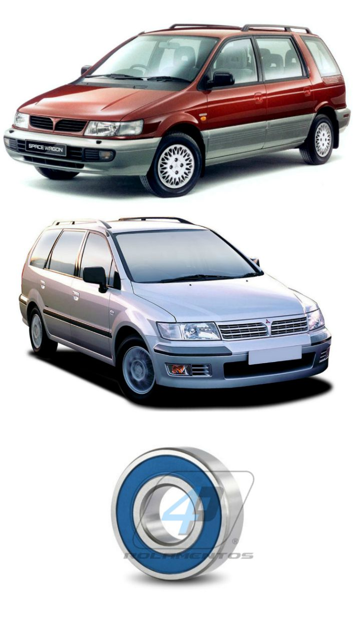 Rolamento Suporte Semi Eixo MITSUBISHI Space Wagon 1991 até 2004