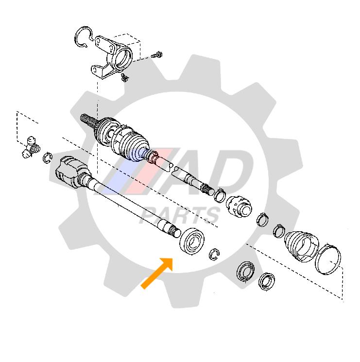 Rolamento Suporte Tulipa Dianteira Toyota Camry 2011 até 2017