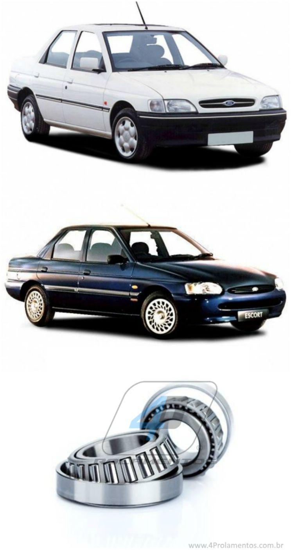 Rolamentos de roda Traseira Ford Escort de 1994 até 2002