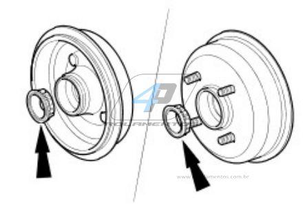 Rolamentos de roda Traseira Ford KA de 1997 até 2013