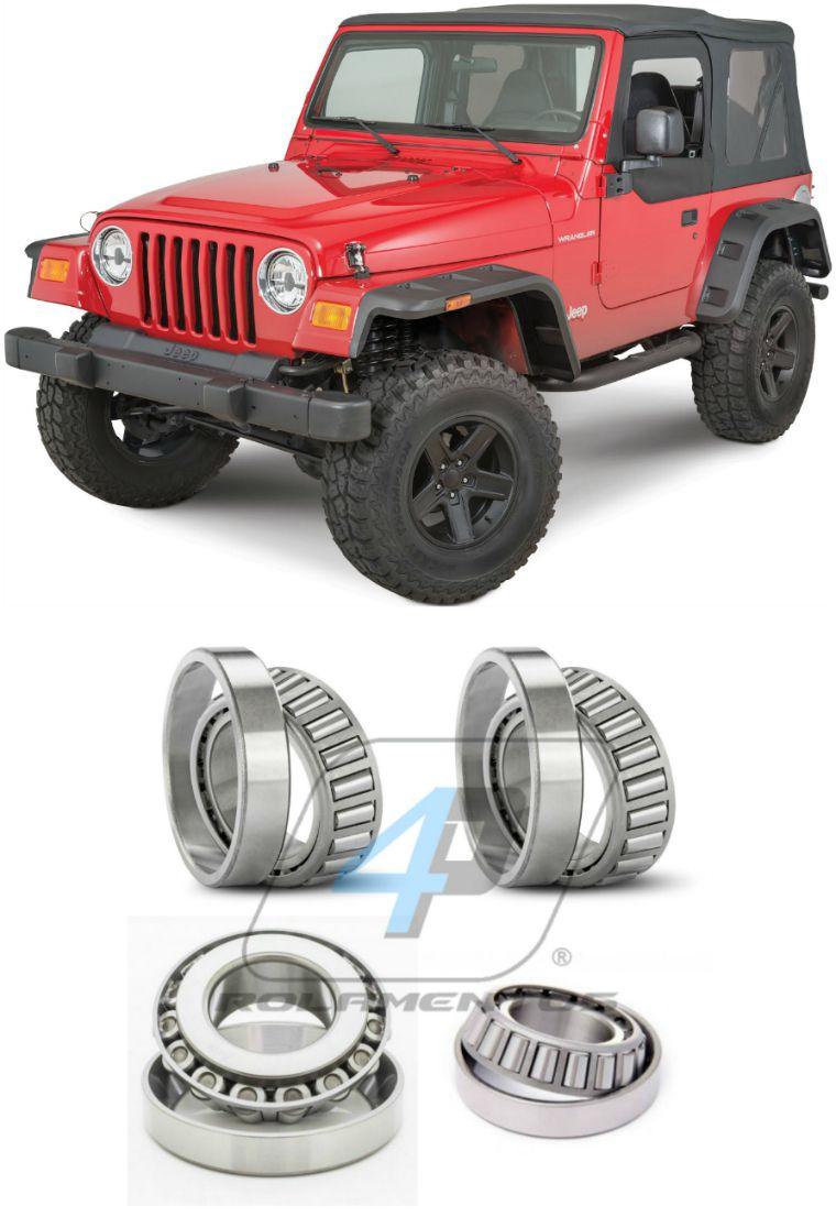 Rolamentos Diferencial Dianteiro Jeep Wrangler de 1997 até 2006