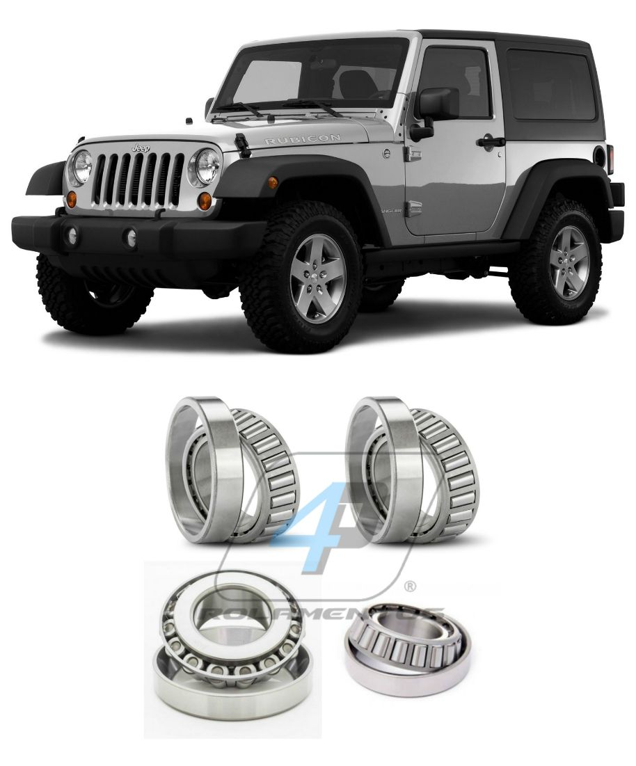 Rolamentos Diferencial Jeep Wrangler 2003 até 2006, Dana 44