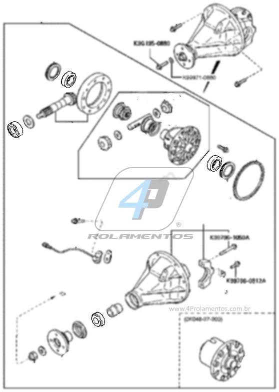 Rolamentos Diferencial Kia Sportage 1993-2002