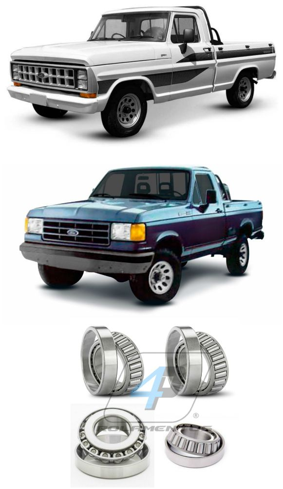 Rolamentos Diferencial Traseiro Ford F-1000 de 1985 até 1992, Braseixos