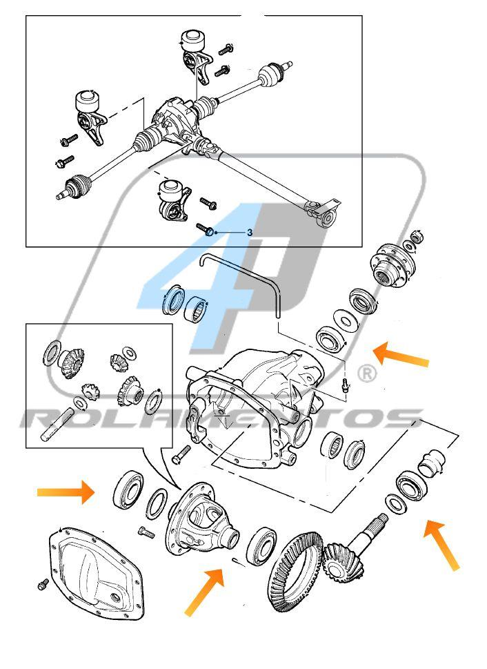Rolamentos Diferencial Traseiro Land Rover Freelander 2 2006-2014