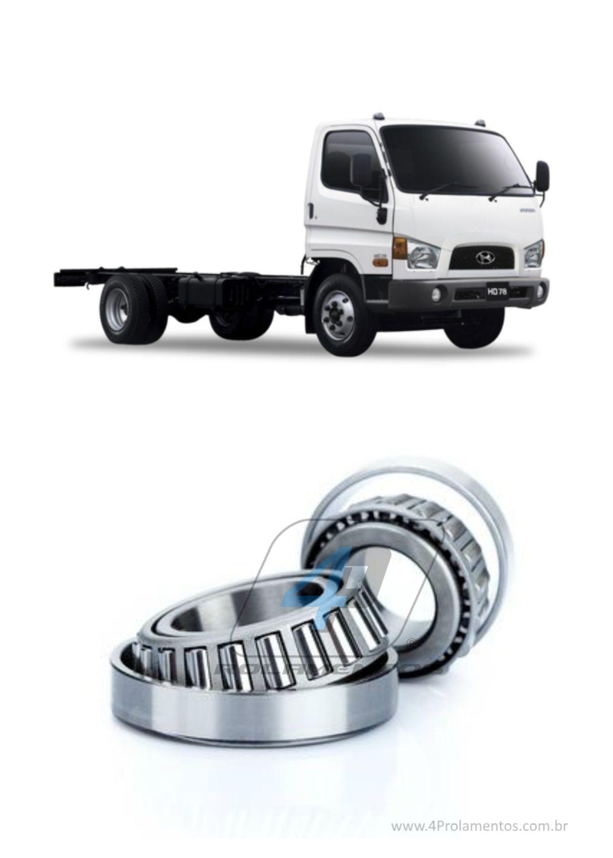 Rolamentos Roda Dianteira Hyundai HD78 de 2010 até 2018