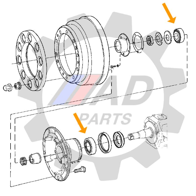 Rolamentos Roda Dianteira Mercedes Benz Sprinter de 1997 até 2013