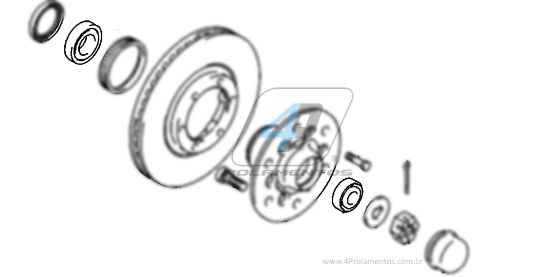 Kit Rolamentos Roda Dianteira MITSUBISHI L200 4x2
