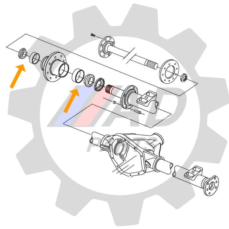 Rolamentos Roda Traseira Hyundai HD78 de 2010 até 2018