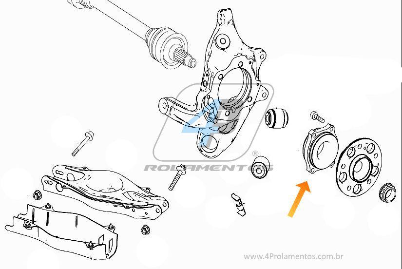 Rolamentos roda traseira Mercedes Benz C200 de 2013 á 2019