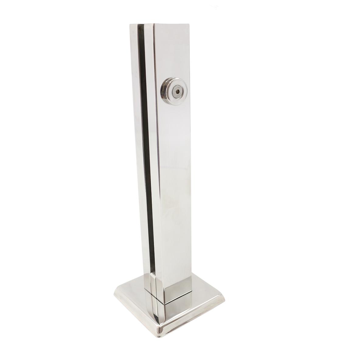 Coluna Torre 20 Cm - 1 Furo - Polida - Aço Inox 304 - v.10