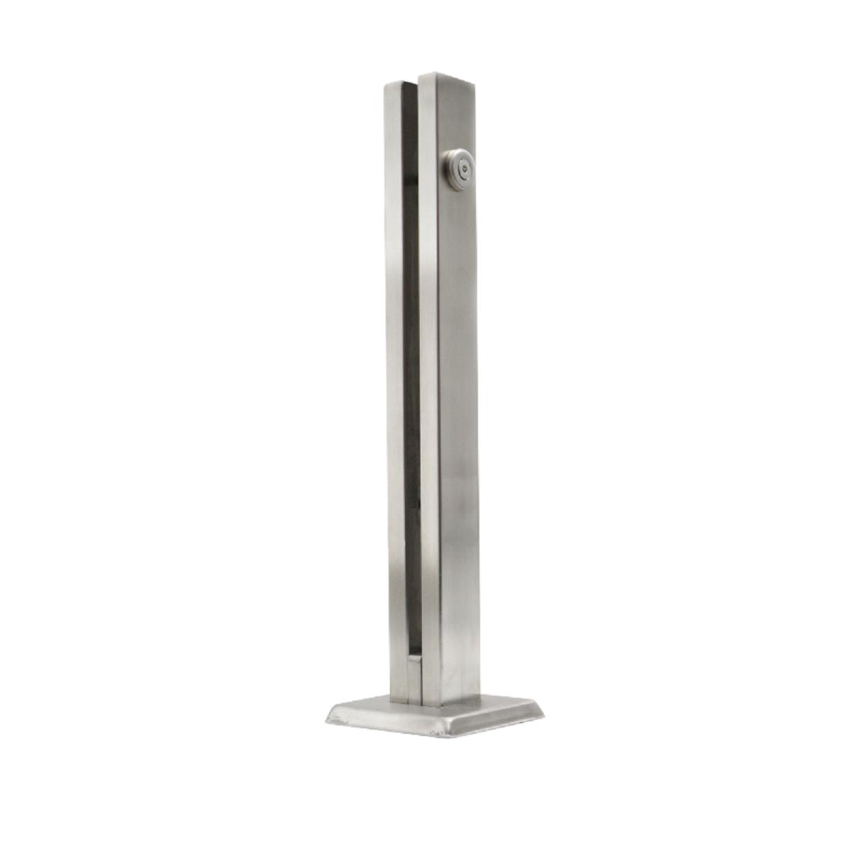 Coluna Torre 30 Cm - 1 Furo - Escovada - Aço Inox 304 - v.10