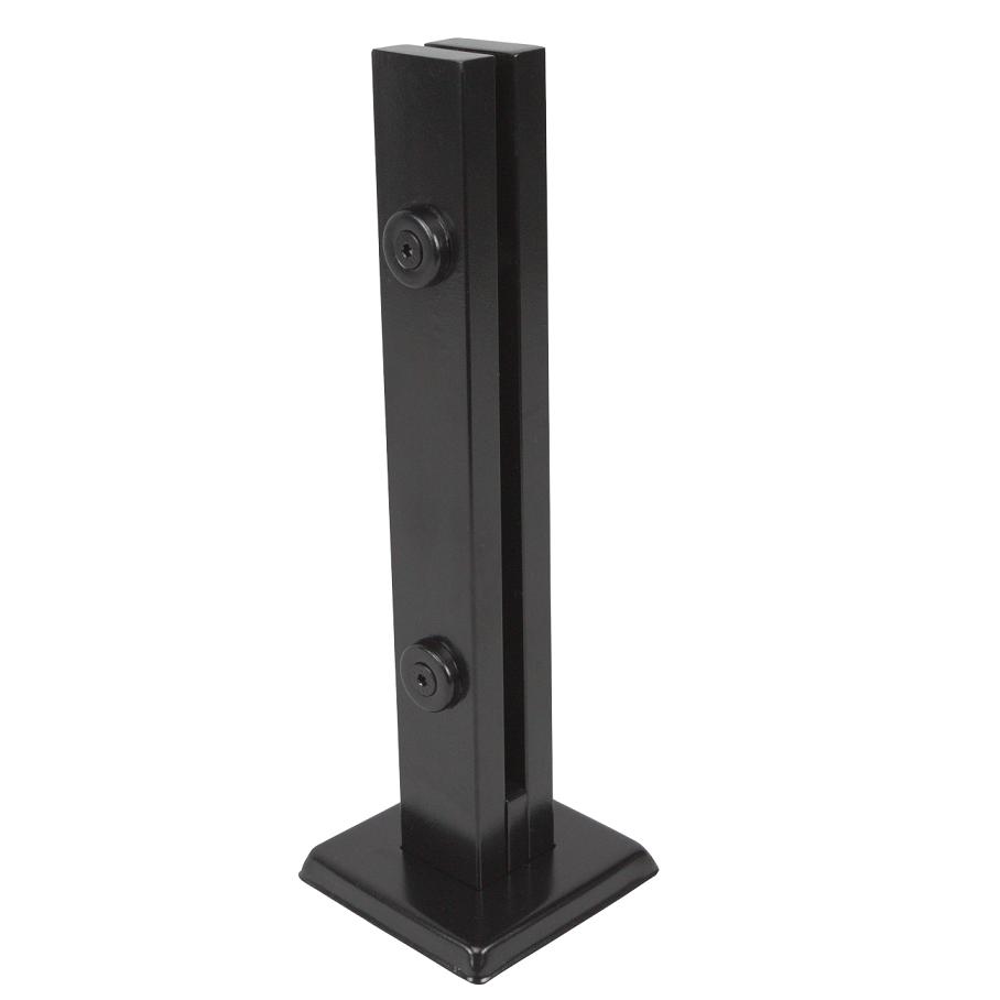 Coluna Torre 30 Cm - 2 Furos - Preta - Aço Inox 304 - v.10